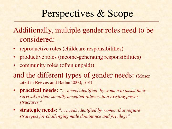 Perspectives & Scope