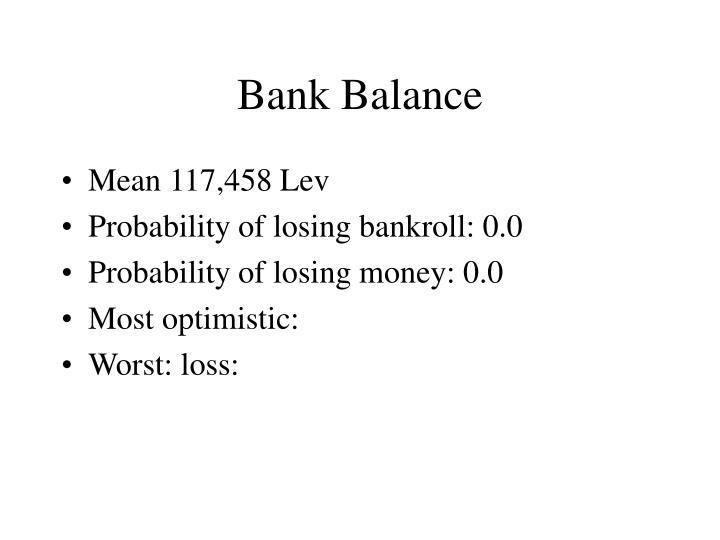 Bank Balance