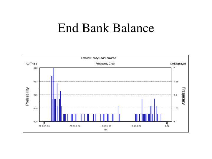 End Bank Balance