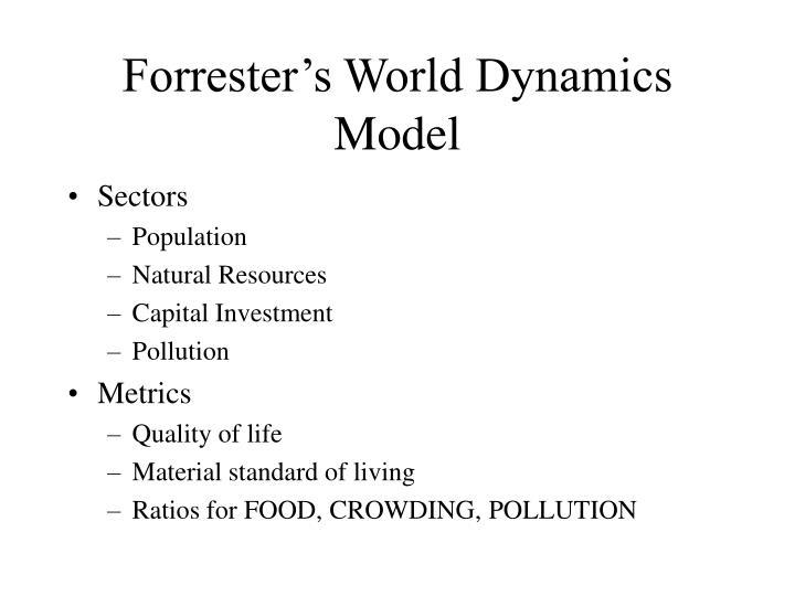 Forrester's World Dynamics Model