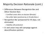 majority decision rationale cont