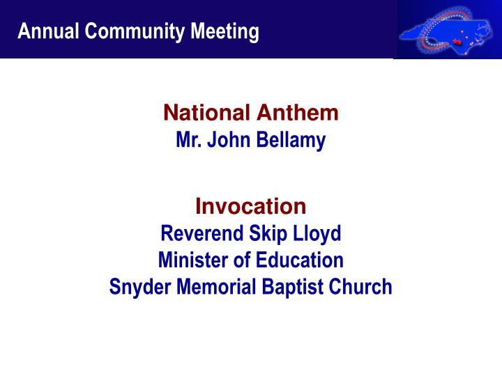 Annual Community Meeting
