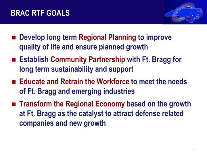 BRAC RTF GOALS