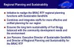 regional planning and sustainability