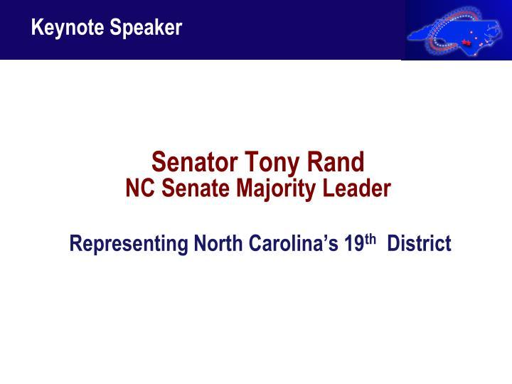 Senator Tony Rand