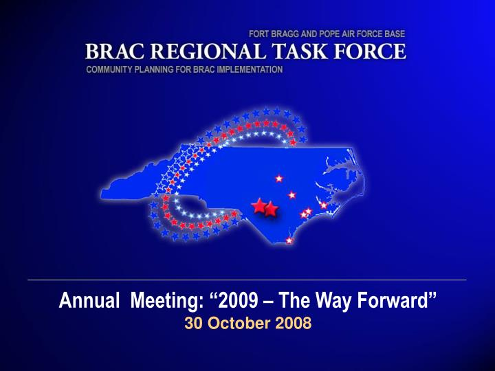 """Annual  Meeting: """"2009 – The Way Forward"""""""