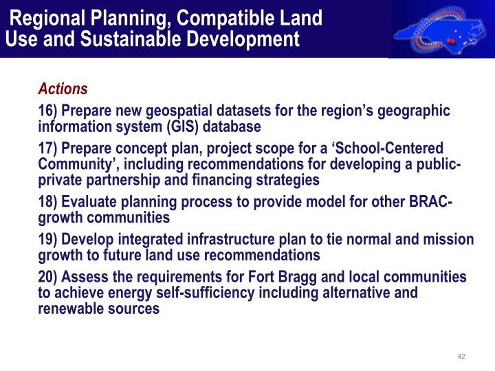 Regional Planning, Compatible Land Use and Sustainable Development