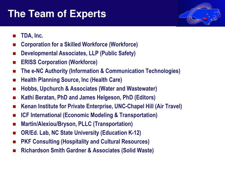 The Team of Experts