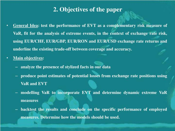 2. Objectives of the paper