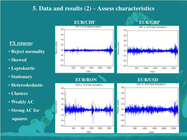 5. Data and results (2) – Assess characteristics