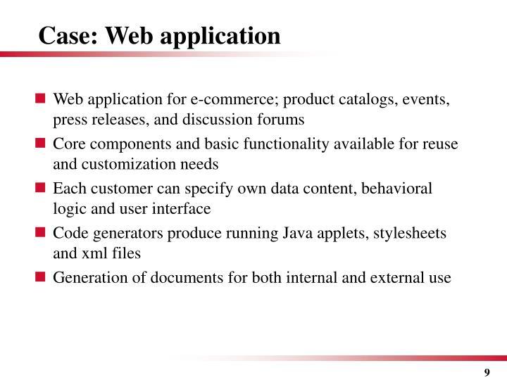 Case: Web application