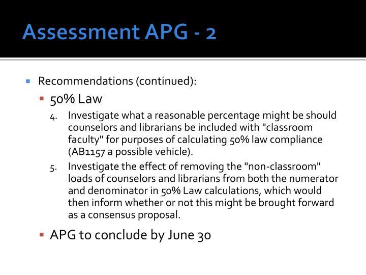 Assessment APG - 2