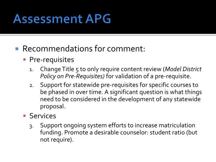 Assessment APG