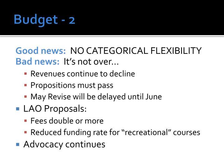 Budget - 2
