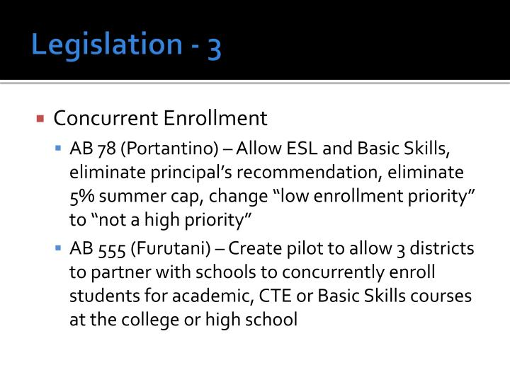 Legislation - 3