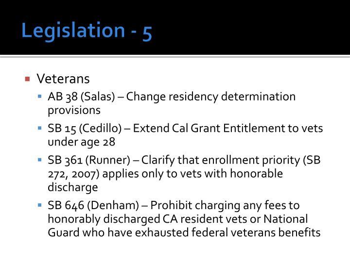 Legislation - 5