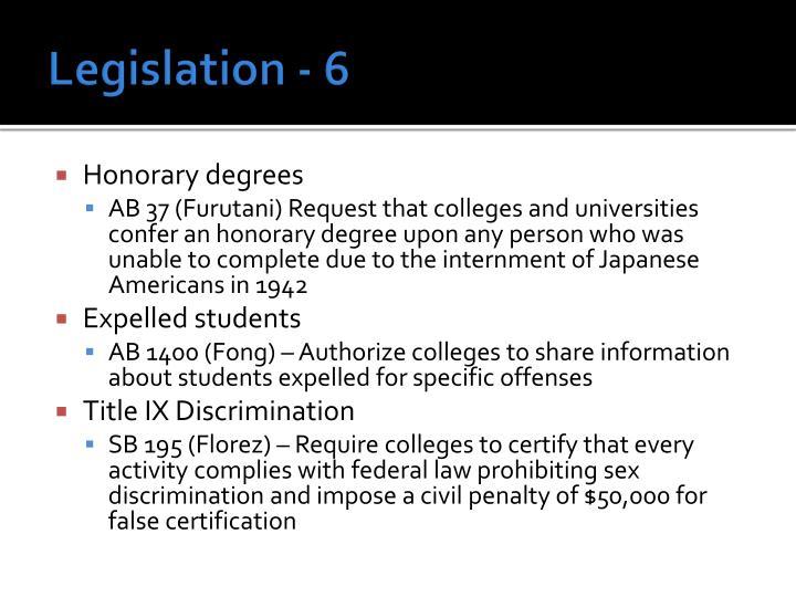 Legislation - 6