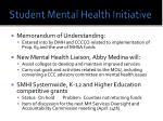 student mental health initiative