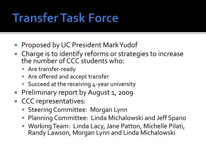 Transfer Task Force