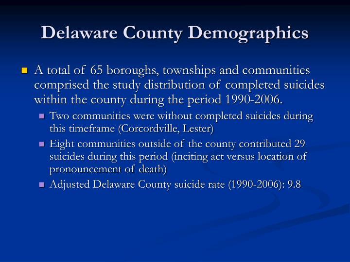 Delaware County Demographics