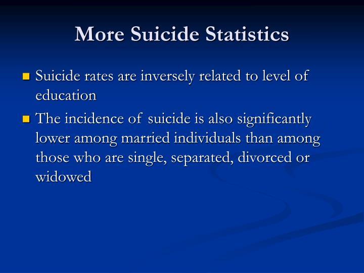 More Suicide Statistics