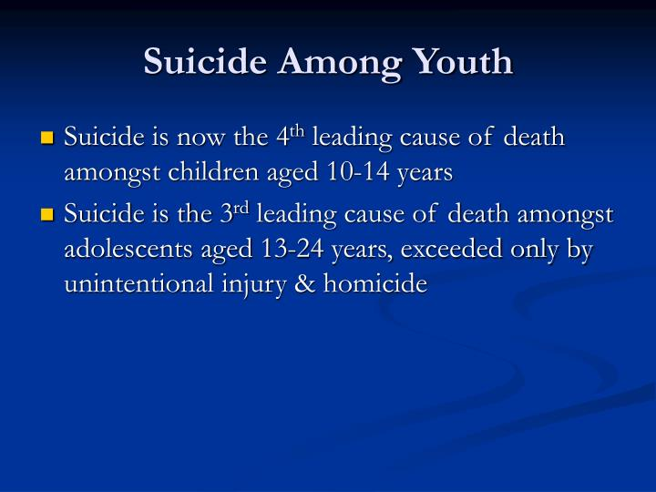 Suicide Among Youth
