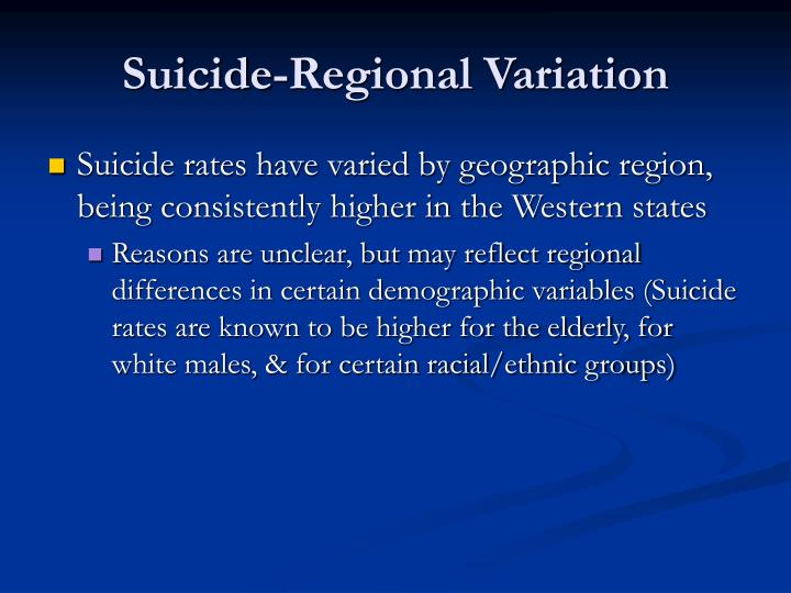 Suicide-Regional Variation