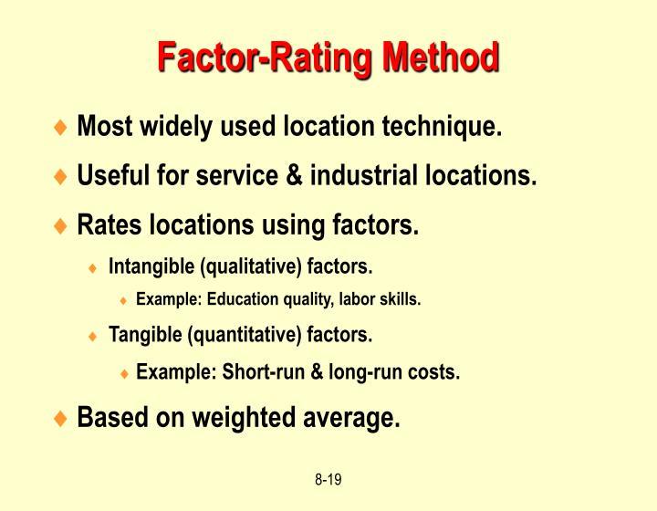 Factor-Rating Method