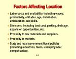 factors affecting location