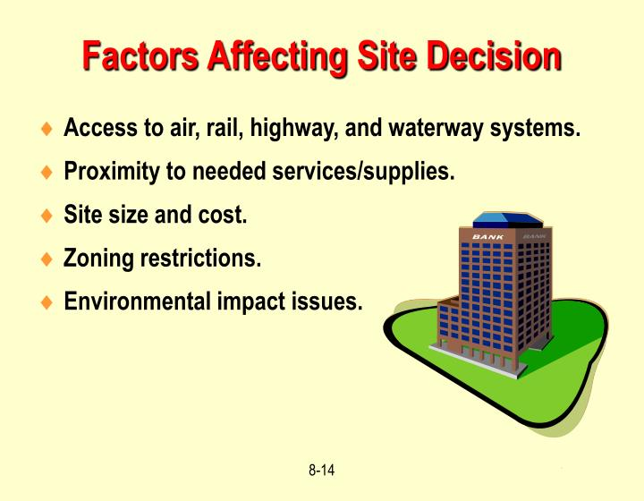 Access to air, rail, highway, and waterway systems.