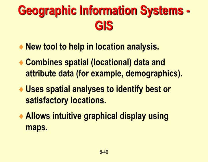 Geographic Information Systems - GIS