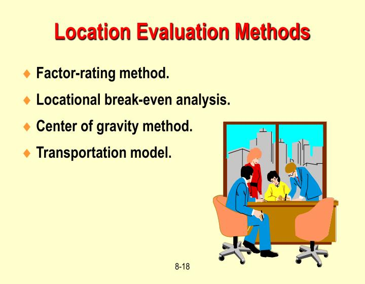 Location Evaluation Methods