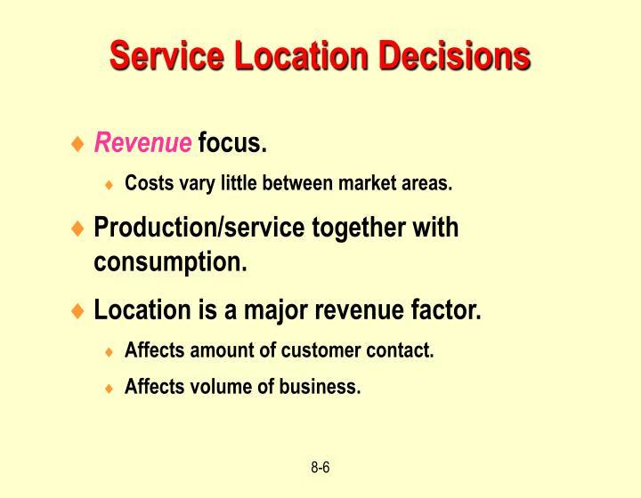 Service Location Decisions