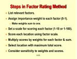 steps in factor rating method