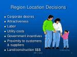 region location decisions