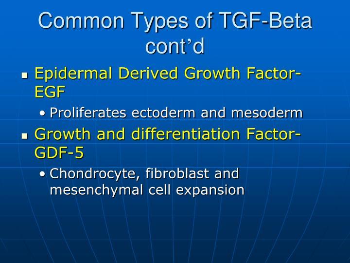 Common Types of TGF-Beta