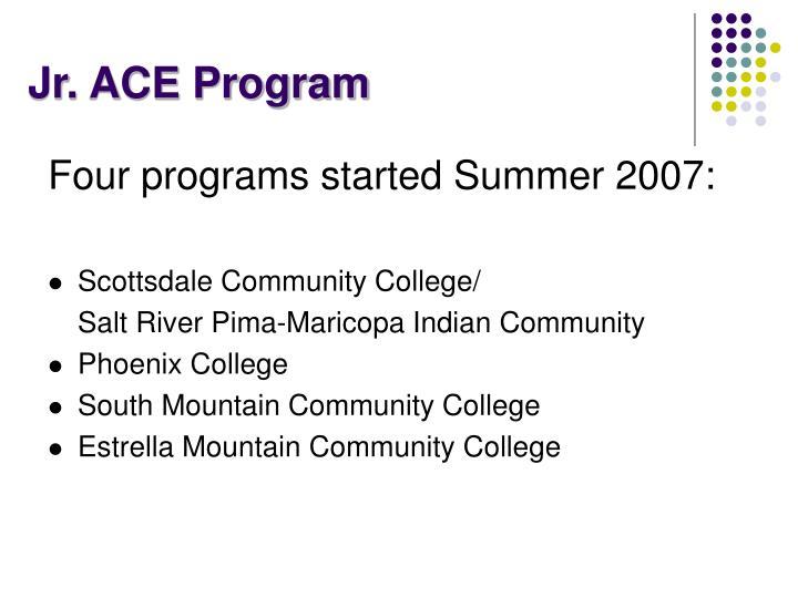 Jr. ACE Program