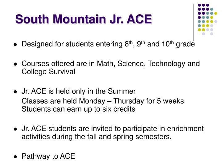 South Mountain Jr. ACE