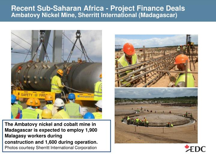 Recent Sub-Saharan Africa - Project Finance Deals