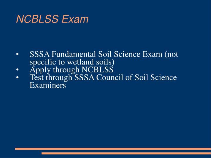 NCBLSS Exam