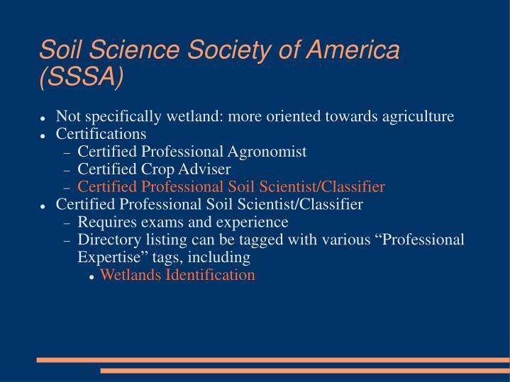 Soil Science Society of America (SSSA)