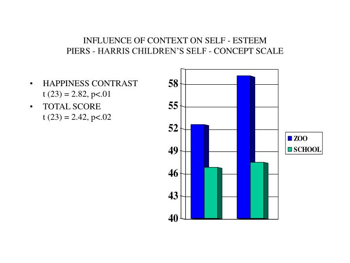 INFLUENCE OF CONTEXT ON SELF - ESTEEM