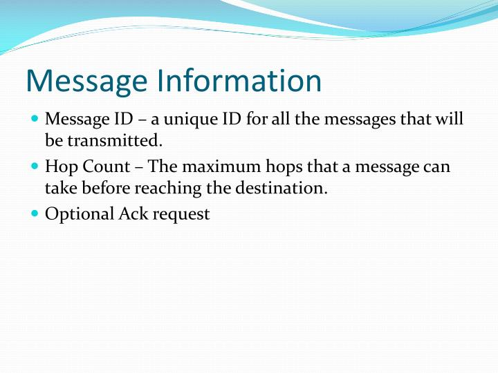 Message Information