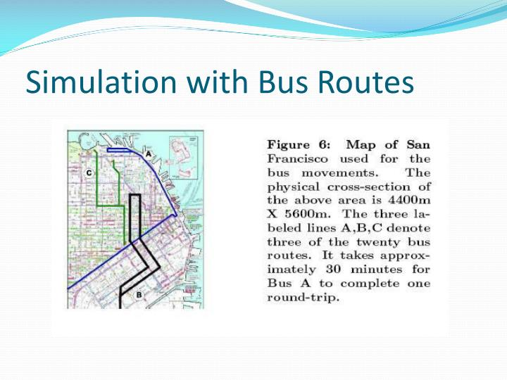 Simulation with Bus Routes