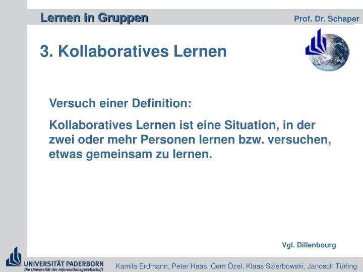 3. Kollaboratives Lernen