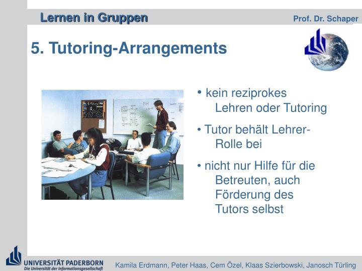 5. Tutoring-Arrangements