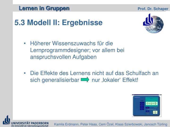 5.3 Modell II: Ergebnisse