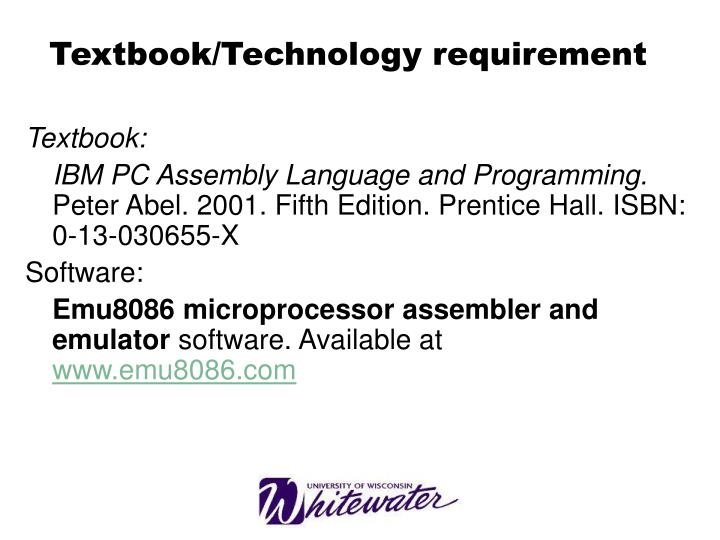 Textbook technology requirement