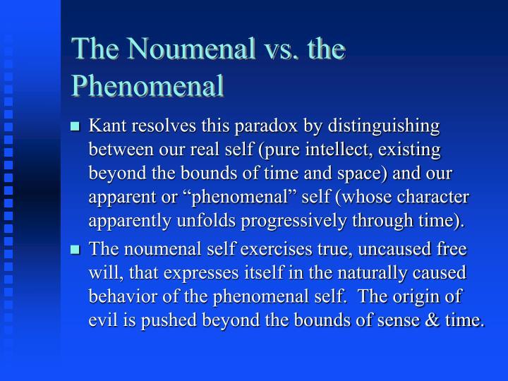 The Noumenal vs. the Phenomenal