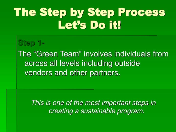 The Step by Step Process
